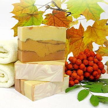 """Косметика ручной работы. Ярмарка Мастеров - ручная работа """"Осенний лист"""" натуральное мыло. Handmade."""