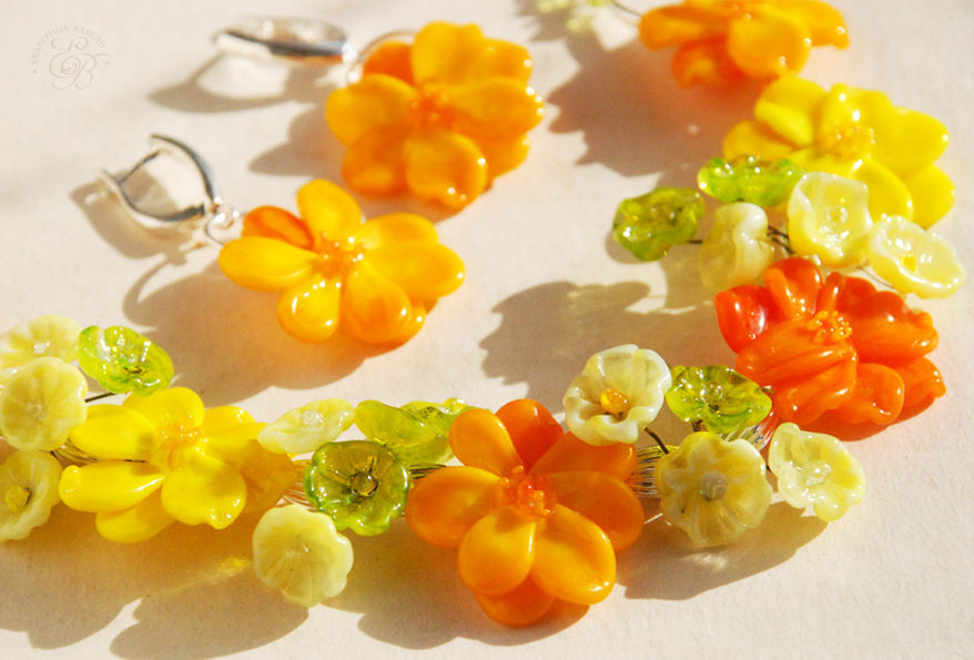 'Sunshine' necklace and earrings, Jewelry Sets, St. Petersburg,  Фото №1