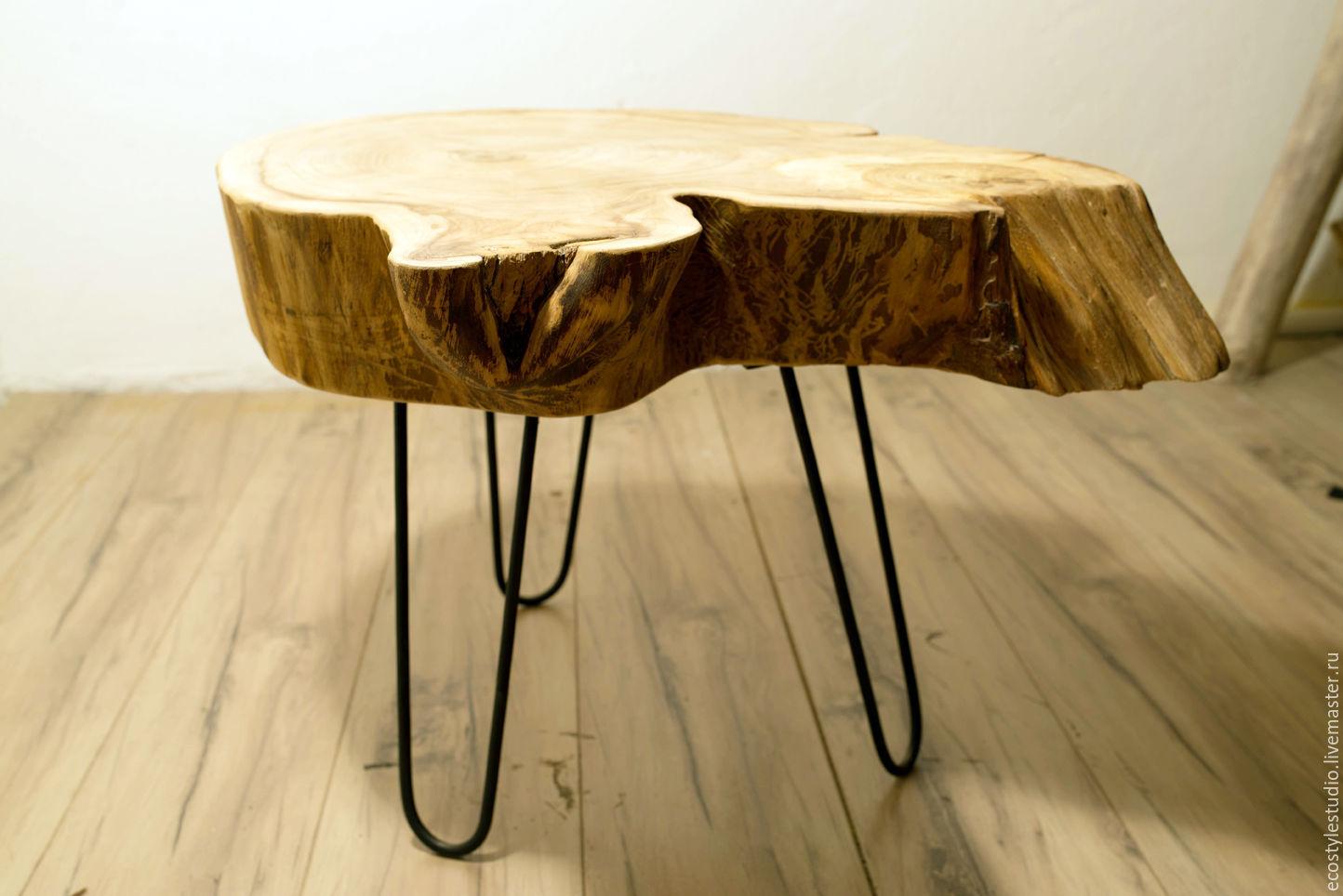 стол из спила дерева фото