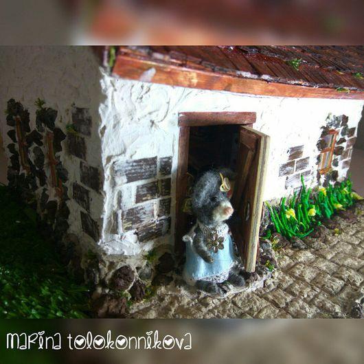 Кукольный дом ручной работы. Ярмарка Мастеров - ручная работа. Купить Кукольный мини-домик, румбокс, миниатюа. Handmade. Румбокс