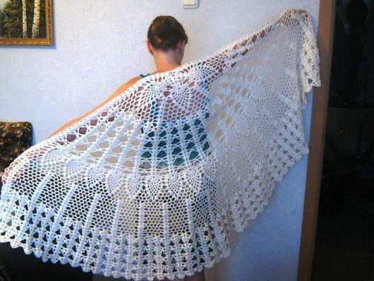 "Shawls & Stoles handmade. Livemaster - handmade. Buy Shawl knitted ""Lacy"".Shawl, cape crochet"