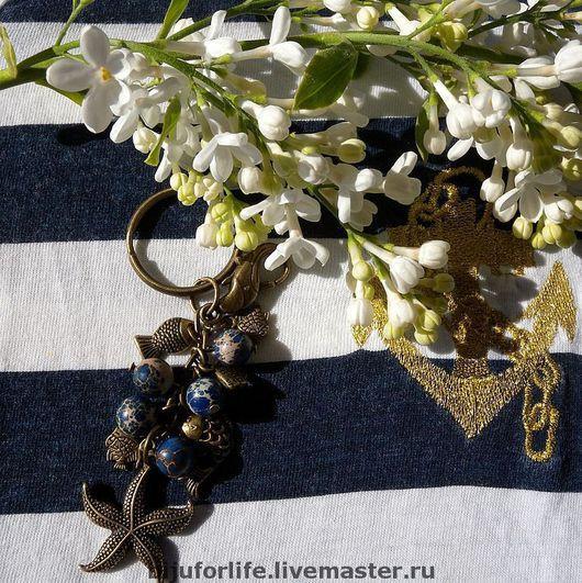 """Брелоки ручной работы. Ярмарка Мастеров - ручная работа. Купить """"В синем море, в белой пене..."""" Брелок для ключей. Handmade."""