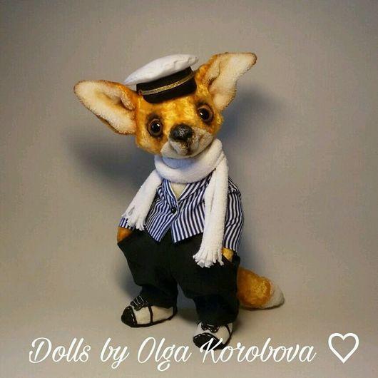 Куклы и игрушки ручной работы. Ярмарка Мастеров - ручная работа. Купить Лис Ося. Handmade. Тедди лис, остап бендер