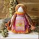 Народные куклы ручной работы. Ярмарка Мастеров - ручная работа. Купить Огневушка. Handmade. Оранжевый, текстильная кукла, бусины