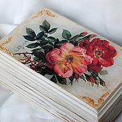 Для дома и интерьера handmade. Livemaster - original item Rose box retro style solid pine. Handmade.