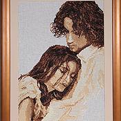 Картины и панно handmade. Livemaster - original item Hand cross stitch painting Just you. Handmade.