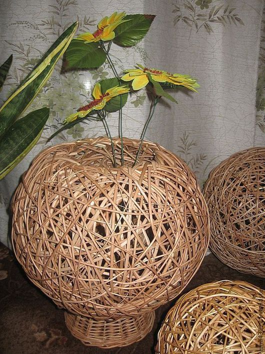 Vases handmade. Livemaster - handmade. Buy Vase-bowl will be stone.Products of the vine, wickerwork, interior