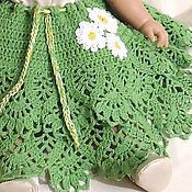 Работы для детей, handmade. Livemaster - original item SKIRT FOR GIRL WITH DAISIES knit summer. Handmade.