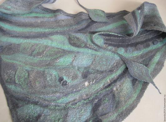 Шарфы и шарфики ручной работы. Ярмарка Мастеров - ручная работа. Купить Бактус валяный В дымке тумана. Handmade.