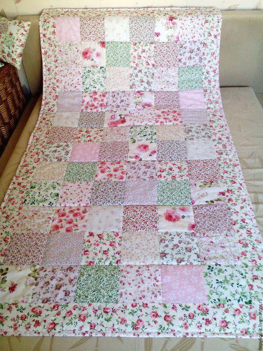 Текстиль, ковры ручной работы. Ярмарка Мастеров - ручная работа. Купить Шебби-покрывало ''Цветочные грёзы''. Handmade. Шебби