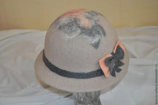 """Шляпы ручной работы. Ярмарка Мастеров - ручная работа. Купить Шляпа валяная """"Рассвет"""". Handmade. Бежевый, шерсть для валяния"""