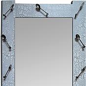 Для дома и интерьера ручной работы. Ярмарка Мастеров - ручная работа Зеркало настенное для кухни серебристое Ложки. Handmade.