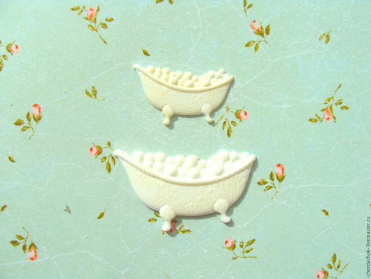 Открытки и скрапбукинг ручной работы. Ярмарка Мастеров - ручная работа. Купить Набор из двух ванночек. Handmade. Фигурки из пластика