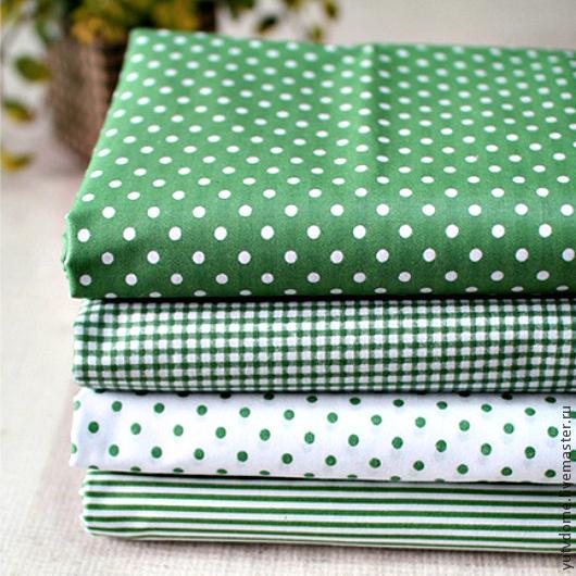 Шитье ручной работы. Ярмарка Мастеров - ручная работа. Купить 0902 Набор тканей зеленый поликоттон. Handmade. Зеленый, ткань