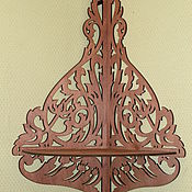 Для дома и интерьера handmade. Livemaster - original item Corner shelf carved. Handmade.