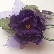 """Украшения ручной работы. Ярмарка Мастеров - ручная работа Мини цветок - брошь """"Виолетта"""". Handmade."""
