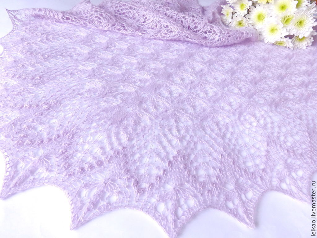 lilac, shawl, knit shawl, lace shawl, knitting shawl, Feather shawl, shawl shawl, warm shawl, handmade shawl, buy shawl, pale lilac, openwork, knitted shawl, shawl, spring