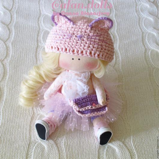 Детская ручной работы. Ярмарка Мастеров - ручная работа. Купить Интерьерная кукла - малышка Киса ростиком 28 см. Handmade.