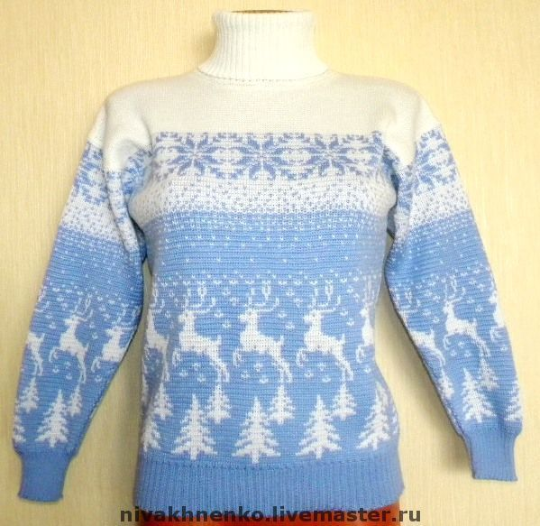 A sweater with a reindeer Norwegian Forest deer, Sweaters, Moscow,  Фото №1