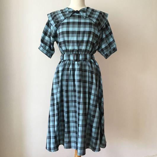 Одежда. Ярмарка Мастеров - ручная работа. Купить Винтажное платье 1970-80х годов. Handmade. Платье винтажное, клетка