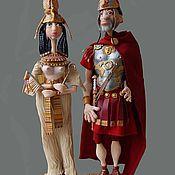 Куклы и игрушки ручной работы. Ярмарка Мастеров - ручная работа Марк Антоний и Клеопатра. Handmade.