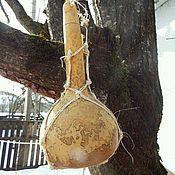 Посуда ручной работы. Ярмарка Мастеров - ручная работа Фляга или кувшин из лагенарии (тыквы горлянки). Handmade.