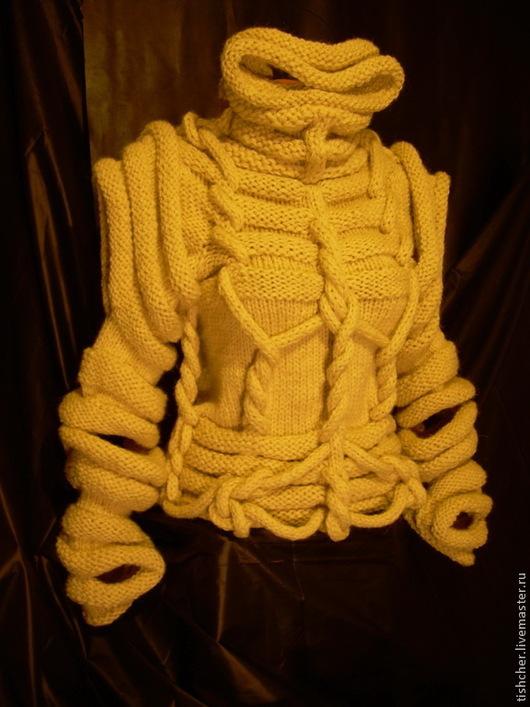 """Кофты и свитера ручной работы. Ярмарка Мастеров - ручная работа. Купить Свитер скульптурного вязания """"  Карнавал"""". Handmade. Бежевый"""