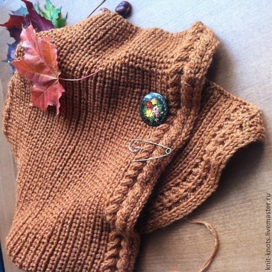 Шарфы и шарфики ручной работы. Ярмарка Мастеров - ручная работа. Купить шарф-шаль. Handmade. Коричневый, шаль, весна, вязание