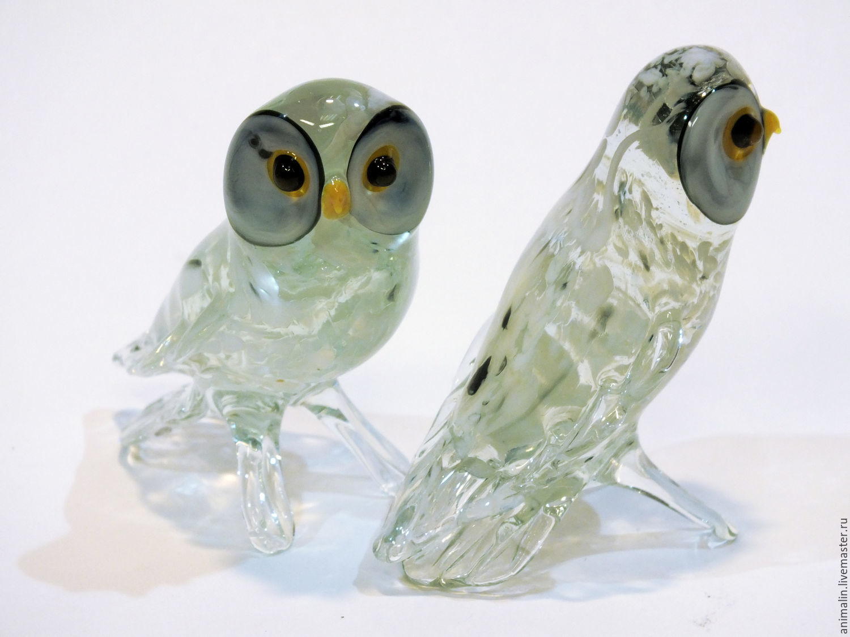 Interior figurine made of colored glass polar Owl Degrand, Figurines, Moscow,  Фото №1