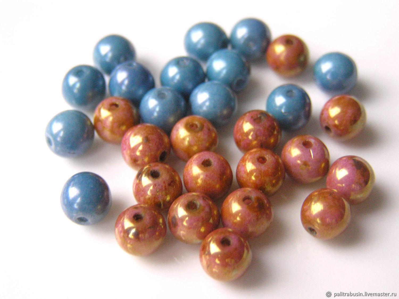 Glass beads Czech Republic 6 mm, Beads1, Tyumen,  Фото №1