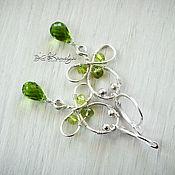 Украшения handmade. Livemaster - original item Silver earrings with chrysolite