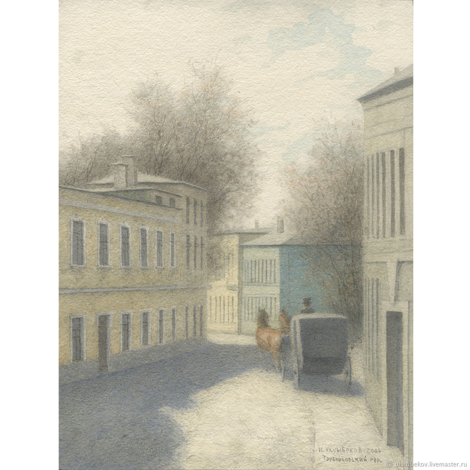 Poster to buy in the online store Trubnikovsky lane, Pictures, Moscow,  Фото №1