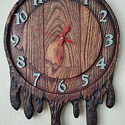 Часы классические ручной работы. Ярмарка Мастеров - ручная работа Часы деревянные из акации-Истечение времени. Handmade.