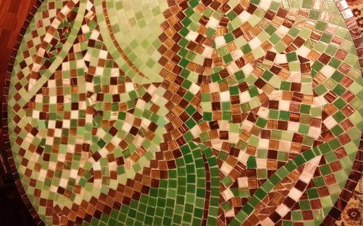 """Мебель ручной работы. Ярмарка Мастеров - ручная работа. Купить Мозаика, Стол обеденный """"Лето"""". Handmade. Зеленый, мозаика, столовая"""