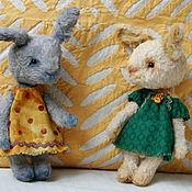 Куклы и игрушки ручной работы. Ярмарка Мастеров - ручная работа Зайки Зоя и Зося. Handmade.