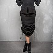 Одежда handmade. Livemaster - original item GA_029 mermaid Skirt convertible black long cords on the sides. Handmade.