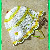 Работы для детей, ручной работы. Ярмарка Мастеров - ручная работа Панама-шляпка «Ромашка» лето. Handmade.