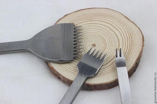 Другие виды рукоделия ручной работы. Ярмарка Мастеров - ручная работа. Купить Набор пробойников строчных с КОСЫМ зубом. Handmade.