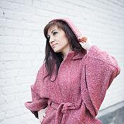 Одежда ручной работы. Ярмарка Мастеров - ручная работа Новинка - Куртка-пончо из ткани меланж с капюшоном. Handmade.
