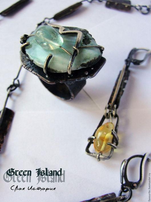Комплекты украшений ручной работы. Ярмарка Мастеров - ручная работа. Купить Кольцо «Green Island» -  Зеленый Остров. Handmade. Мятный