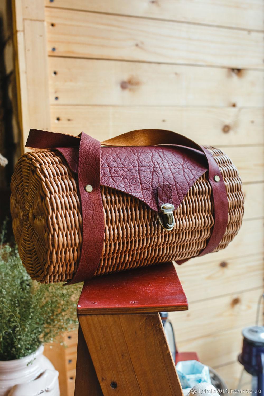 Wicker bag, women's bag, Classic Bag, Astrakhan,  Фото №1