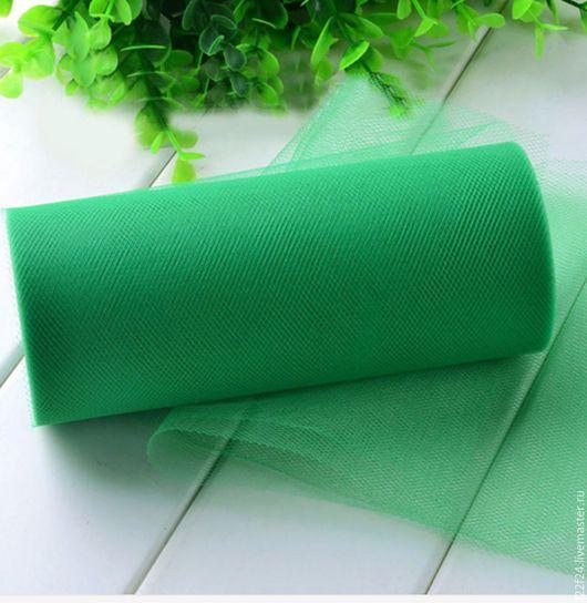 Шитье ручной работы. Ярмарка Мастеров - ручная работа. Купить Фатин (25  м)   1 штука. Handmade. Зеленый