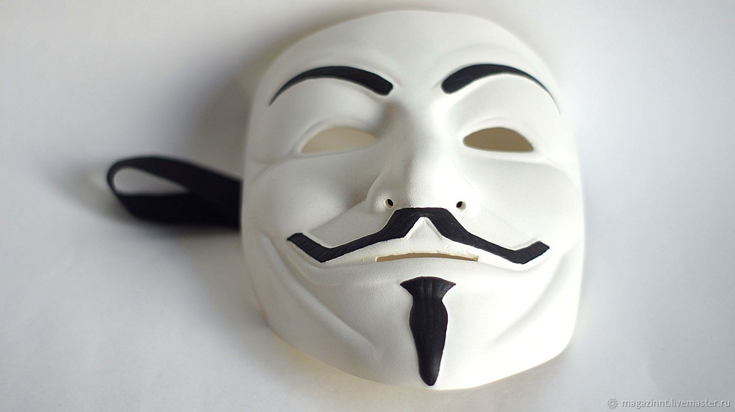 Colleсtion White Guy Fawkes mask V for Vendetta mask Anonymous Freedom, Carnival masks, Moscow,  Фото №1