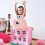 Для дома и интерьера ручной работы. Ярмарка Мастеров - ручная работа Сумка-дом для хранения игрушек. Handmade.