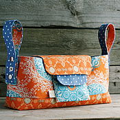 Работы для детей, handmade. Livemaster - original item Organizer for strollers with removable purse. Handmade.