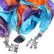 """Аксессуары ручной работы. Ярмарка Мастеров - ручная работа """"К радости"""" шарф колье с кулоном. Handmade."""