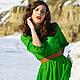 Платья ручной работы. Ярмарка Мастеров - ручная работа. Купить Изумрудное Платье.. Handmade. Ярко-зелёный, зеленый цвет