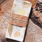 Для дома и интерьера ручной работы. Ярмарка Мастеров - ручная работа Салфетки льняные (набор 2 шт) с принтами растений. Эко стиль/эко принт. Handmade.
