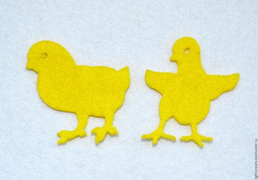 """Валяние ручной работы. Ярмарка Мастеров - ручная работа. Купить Фетровая вырубка """"Цыплята"""" 1,1 мм. Handmade. фетр"""