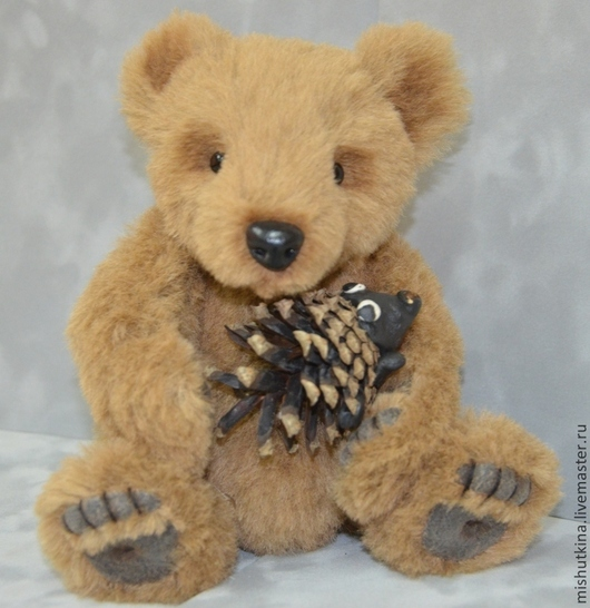 Мишки Тедди ручной работы. Ярмарка Мастеров - ручная работа. Купить Мишка Тедди - Брунс. Handmade. Коричневый, мягкий, скелет